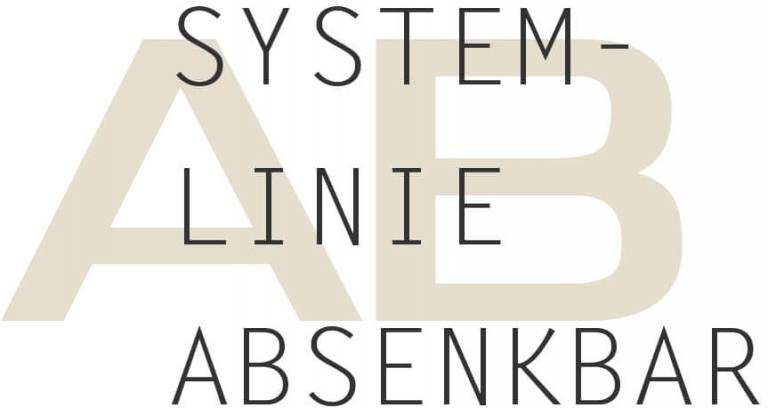 Überschrift Systemlinie absenkbar
