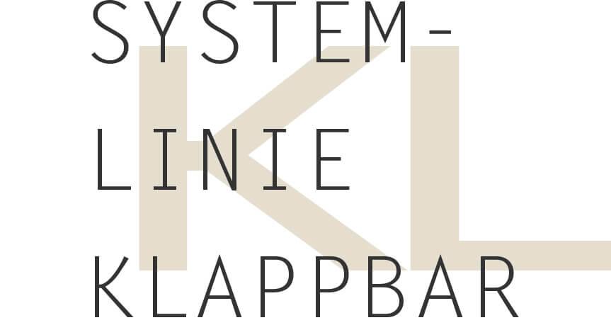 Überschrift Systemlinie klappbar